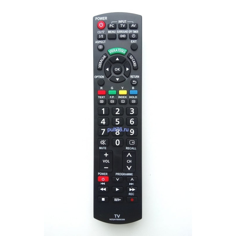 Пульт для телевизора Panasonic (Панасоник) N2QAYB000399