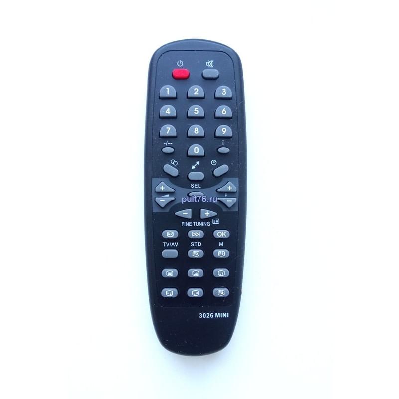 Пульт для телевизора Рекорд (Record, Rekord) RC-600 3026MINI