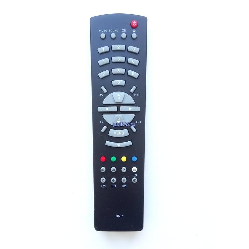Пульт для телевизора Рубин (Rubin) RC-7