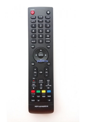 Пульт для телевизора Erisson (Эрисон, Эриссон, Ерисон, Ериссон) HOF14J016GPD10