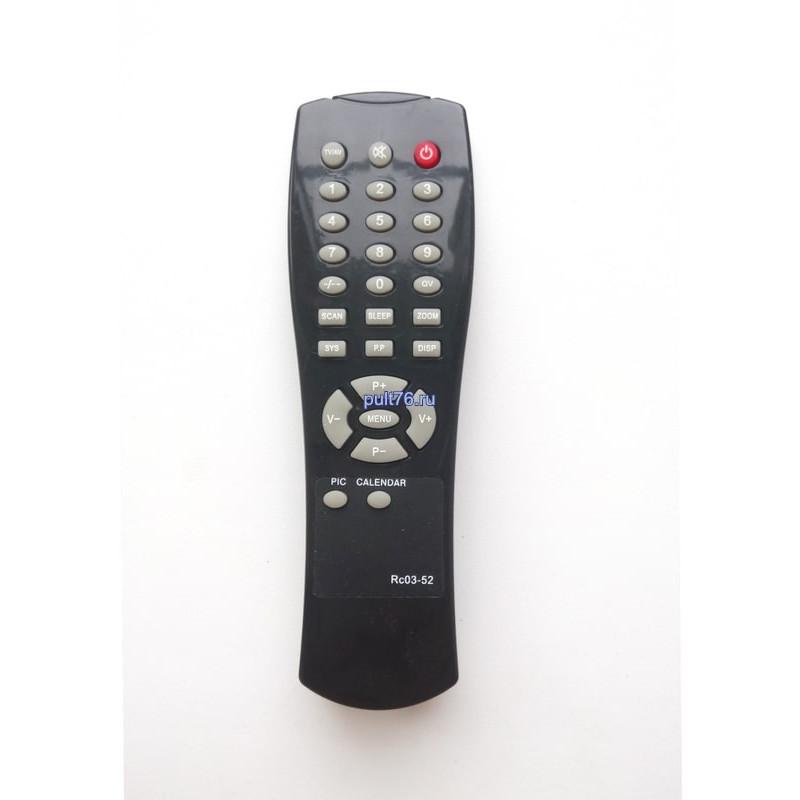 Пульт для телевизора Supra (Супра) RC03-52