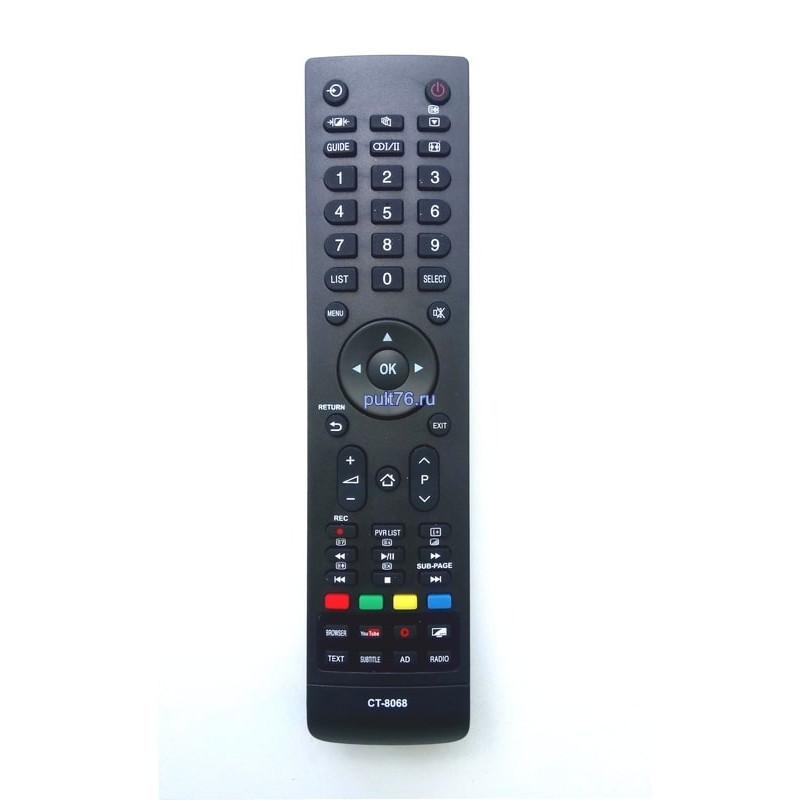 Пульт для телевизора Toshiba CT-8068 SMART TV YOUTUBE